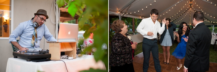 wedding reception at cardwell hill cellars