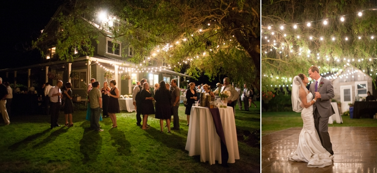 backyard wedding reception in harrisburg, oregon