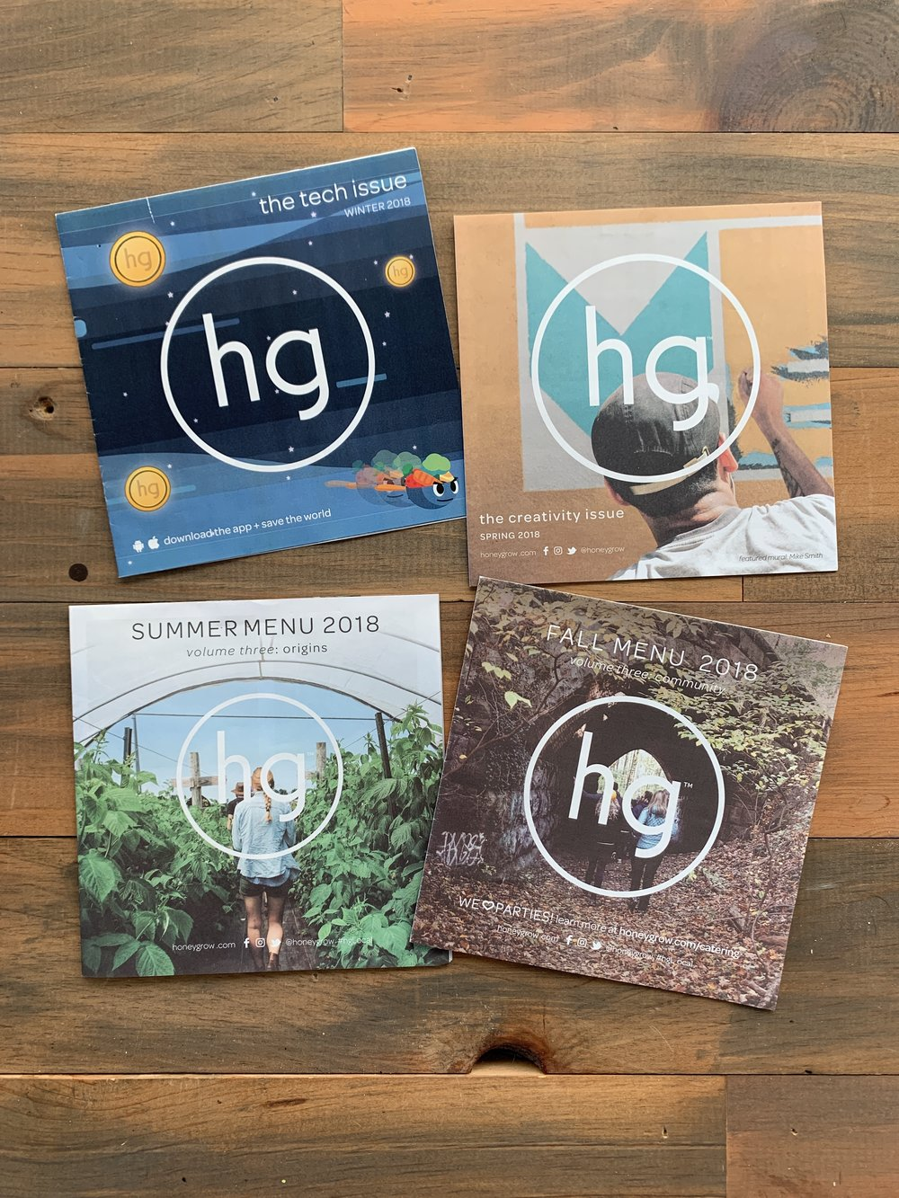 honeygrow 2018 Newsletter Series