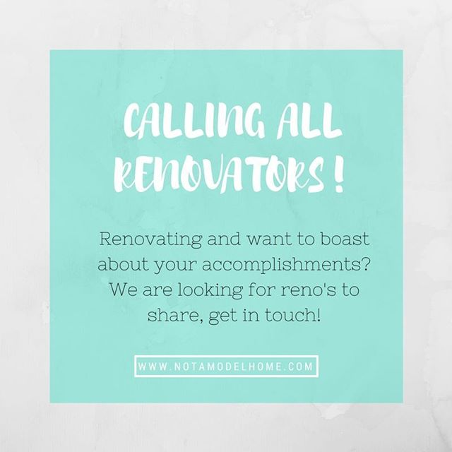 Calling all fellow #renovators!! If you've recently completed a renovation and would like to share your achievements on the blog, please get in touch! We would love to hear from you and be able to share your renovations with the world! #renovation #renovationtips #renovationlife #remodel #housetohome