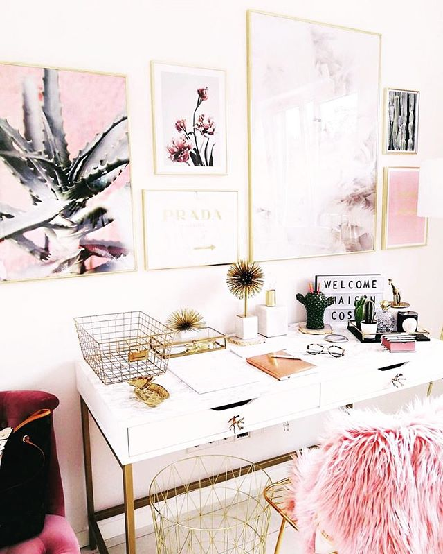 Total desk porn from @betahome - I would definitely work harder if I had this space! #deskporn #desk #study #prada #inspiration ##remodel #renovation #housetohome
