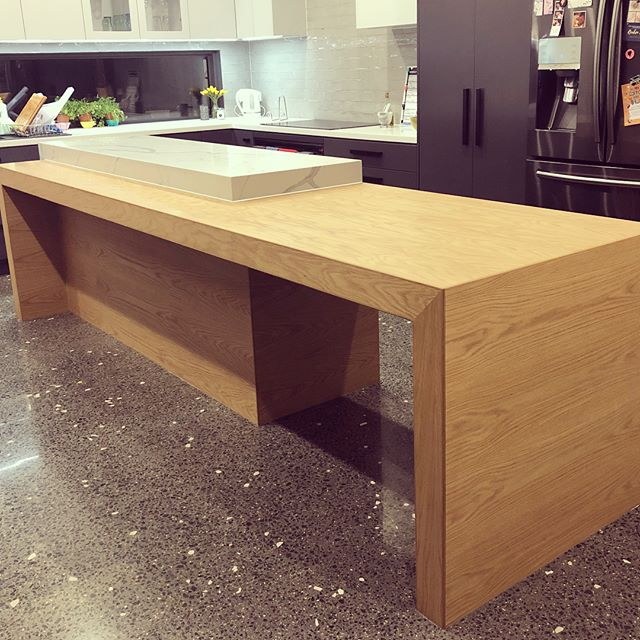 Kitchen benchtops are in! Looking a million bucks. Thanks @createdjoinery for this awesome piece, you guys are AMAZING! #kitchen #almostfinished #reno #renovation #renovationproject #renovationlife #remodel #kitchendesign