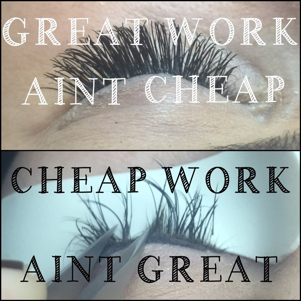 f86d8fb87f9 The most expensive artist is not necessarily going to be the best. But keep  in mind, great lashes aren't cheap, and cheap lashes aren't great.