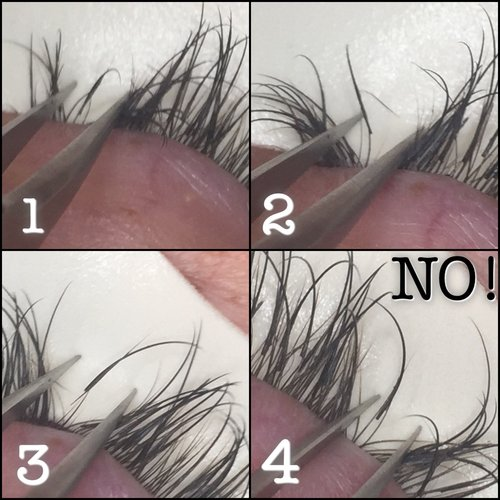 a7f0e1f1fd5 When multiple extensions are stuck together...this can damage the natural  lash.