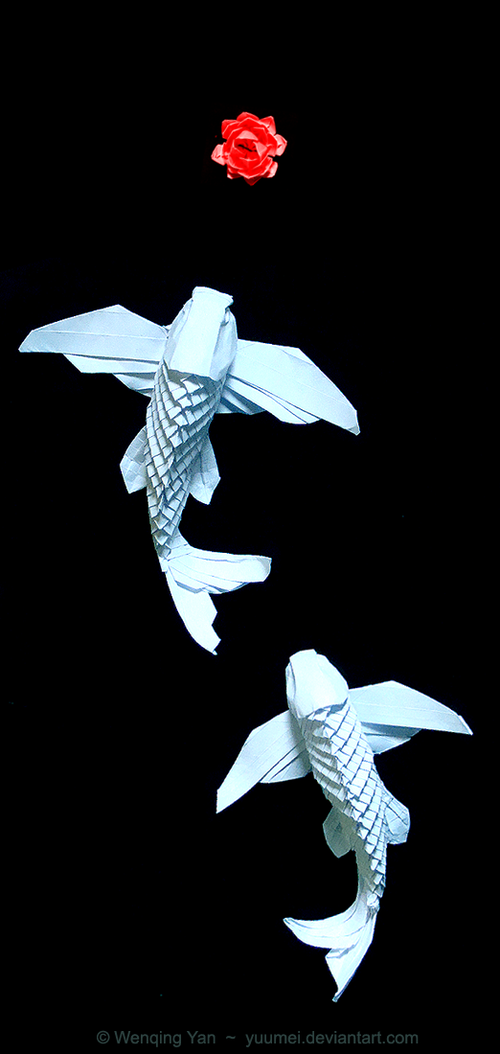 Designing Poseable Paper Koi Made Without Glue Or Tape Yuumei