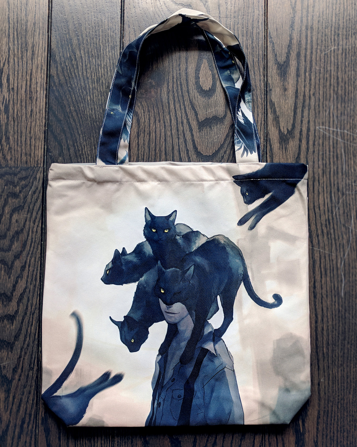 099b50626e Double sided! The Raven   The Black Cat Tote Bag — Yuumei