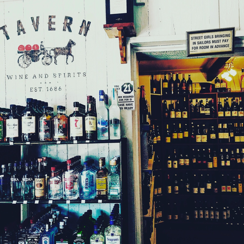 The Oldest Liquor Store in America. Visit Stephen, he has some of the best French red to be found in the city. It's not far from East Bay.