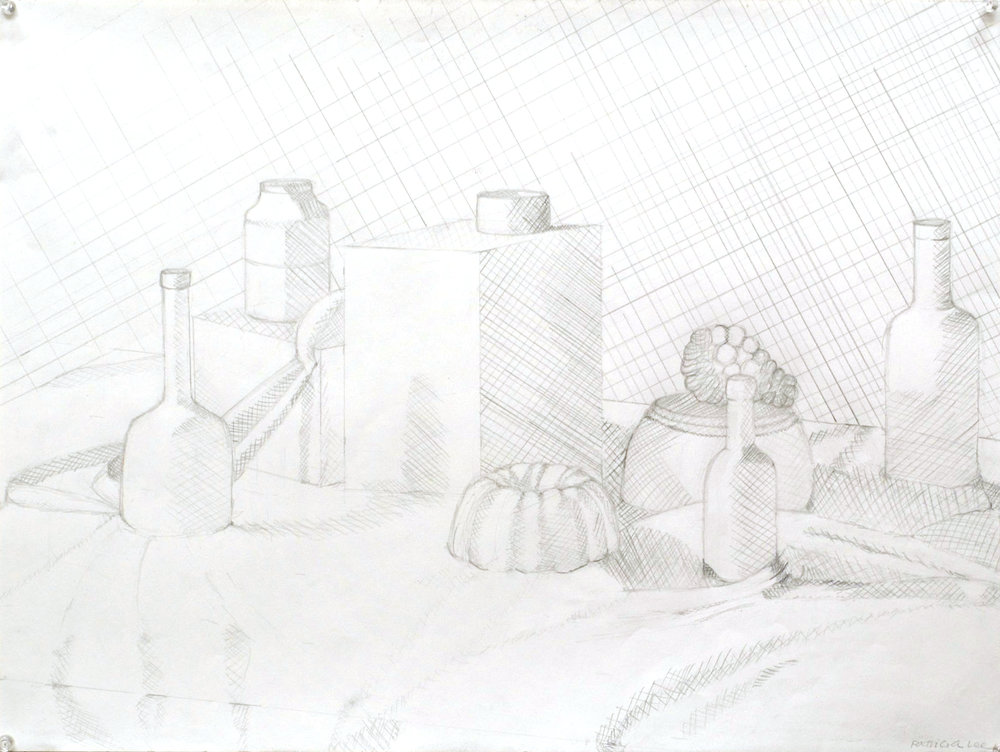 """high key value drawing"" pencil on paper"
