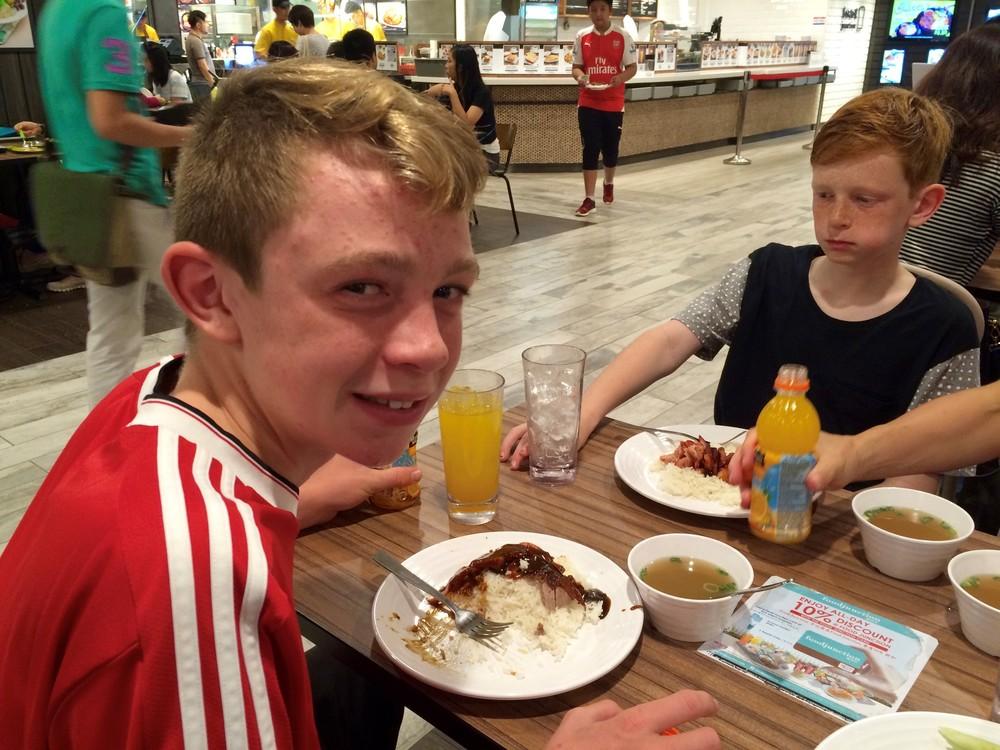 Duck dinner in Singapore.