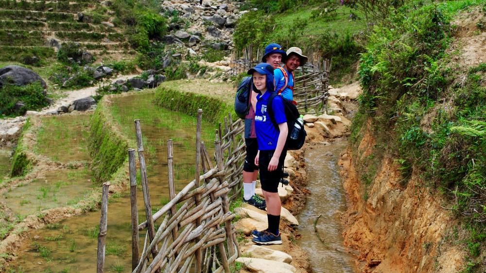 Trail from Sapa to Ta Van.