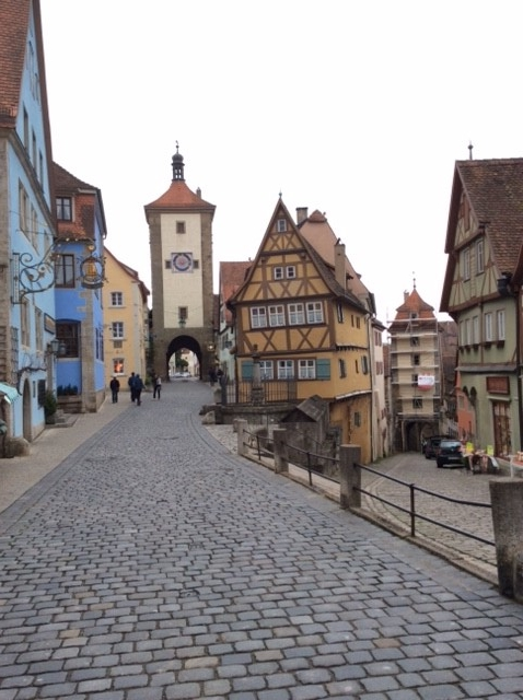 A rare view of Rothenburg without hordes of tourists