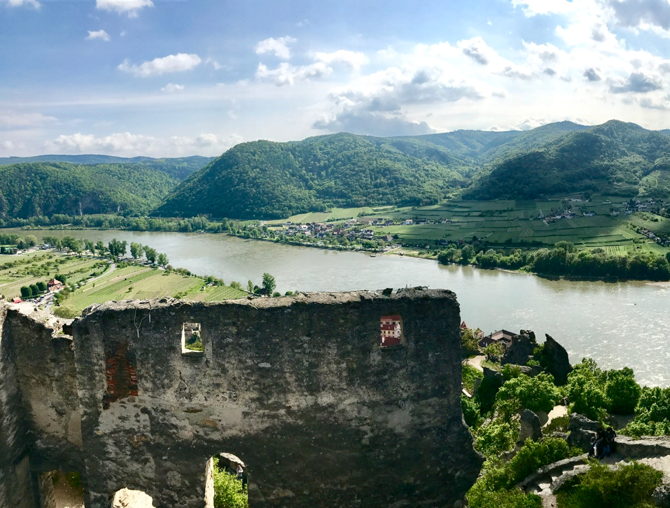 View over the Danube from Durnstein Castle