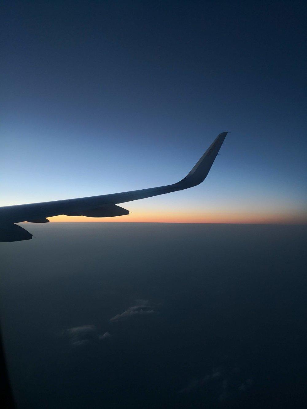 Flying over Alaska at 11.30pm