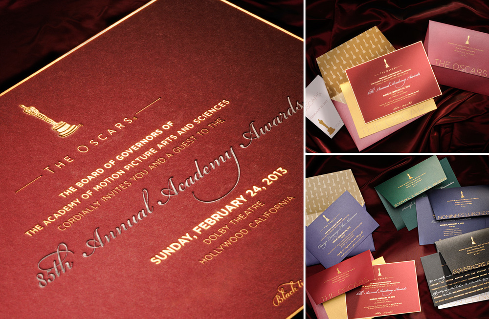 Academy of Motion Picture Arts and Sciences 85th Annual Oscar Invitations.