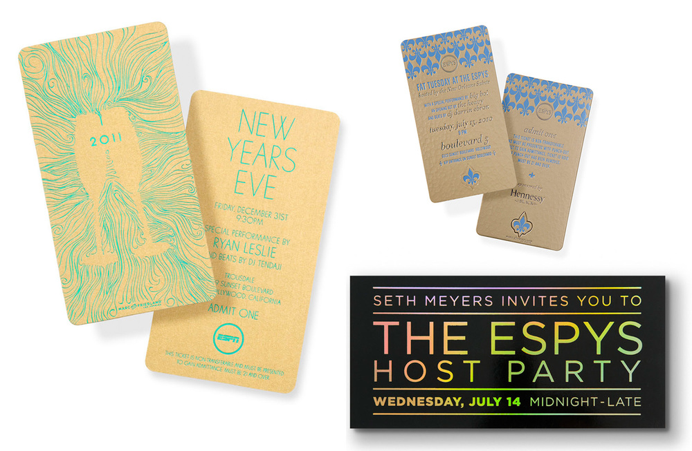 Selected invitations for ESPN.