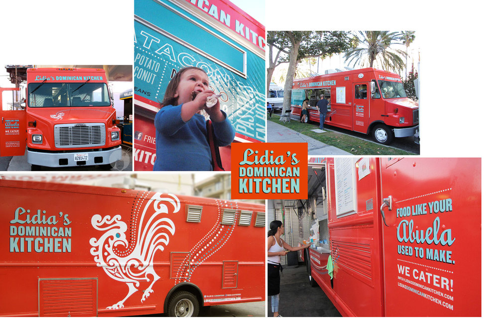 Identity and food truck design for Lidia's Dominican Kitchen.