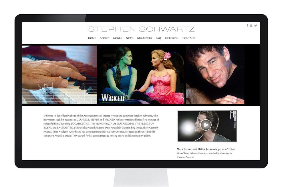 Official site for Grammy and Academy Award-winning composer  Stephen Schwartz.