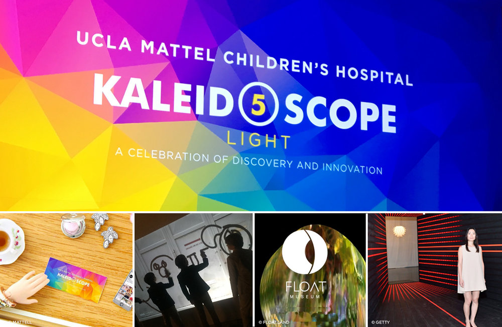 Kaleidoscope 5 / UCLA Mattel Children's Hospital Benefit; Identity, collateral, event design & assistance in curation of art installations.