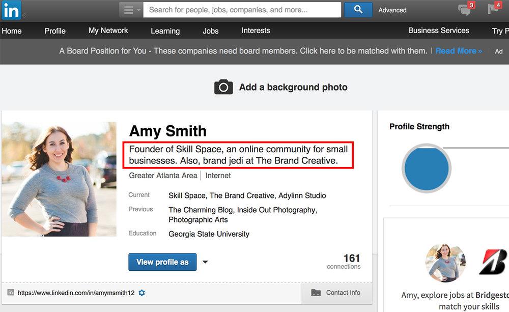 How to edit LinkedIn headline