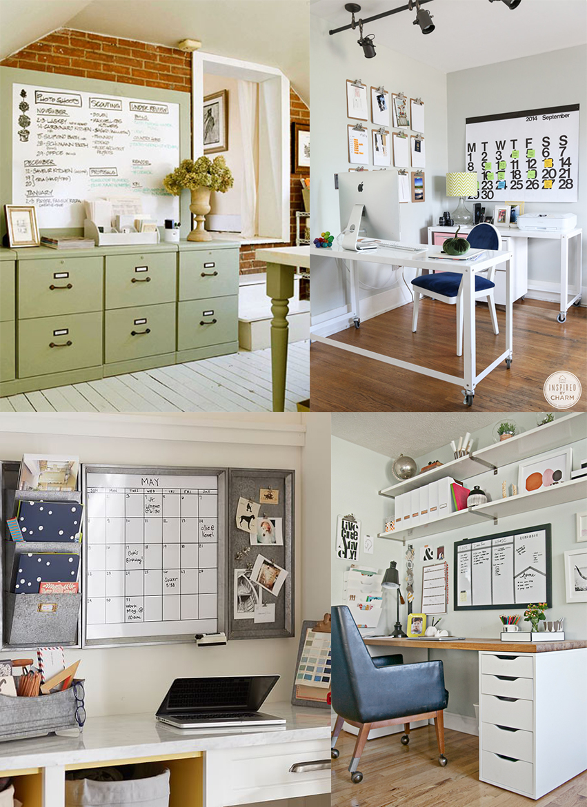 From top left to bottom right:  Better Homes & Gardens ,  Inspired By Charm ,  Pottery Barn ,  The Decor Fix .