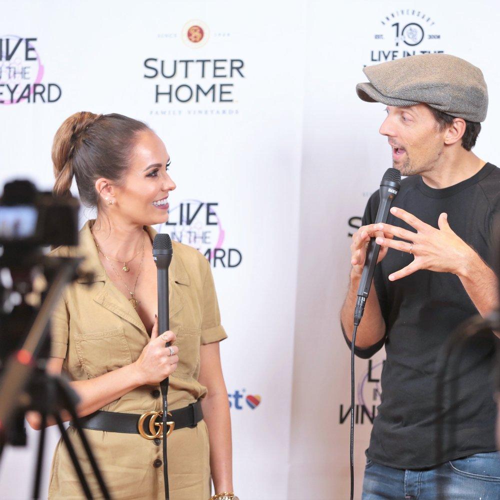 Interviewing Jason Mraz at Live In The Vineyard, November 2018