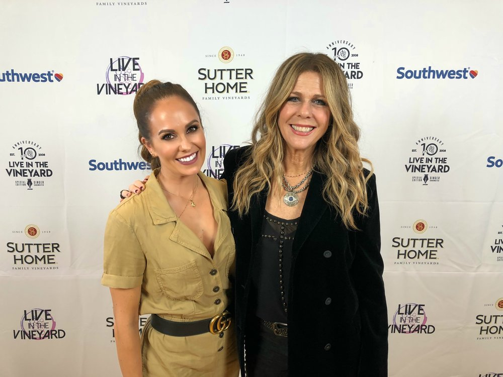 With Rita Wilson at Live In The Vineyard 2018
