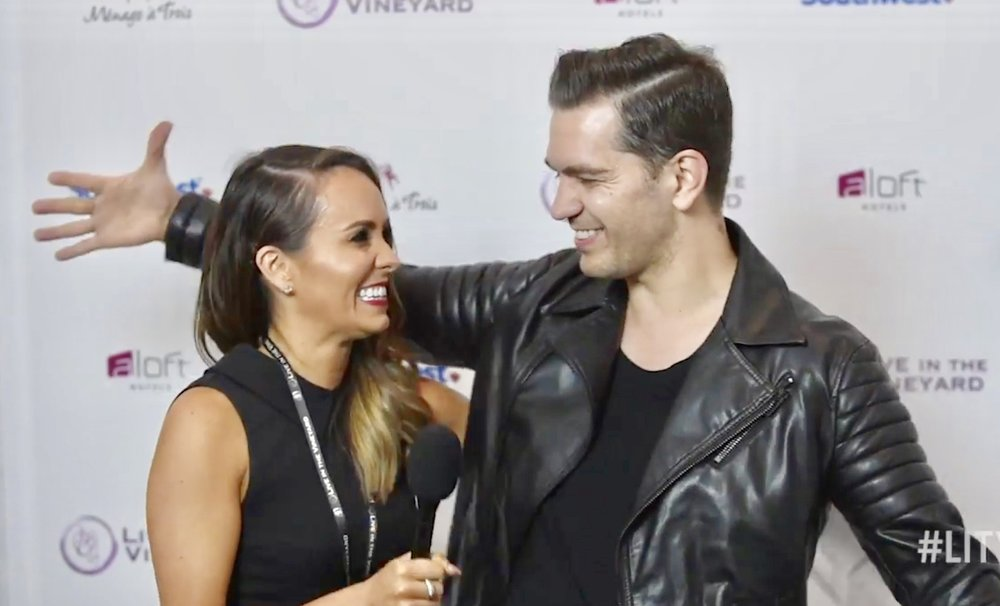 Interviewing Andy Grammer at Live In The Vineyard 2015