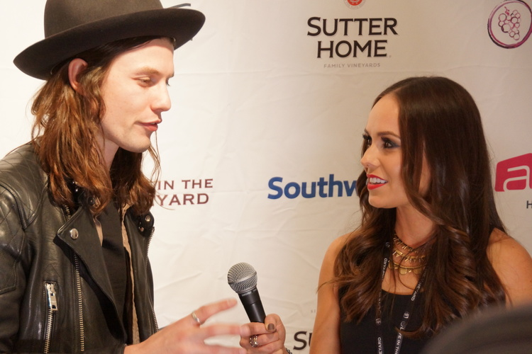 Interviewing James Bay at Live In The Vineyard 2015