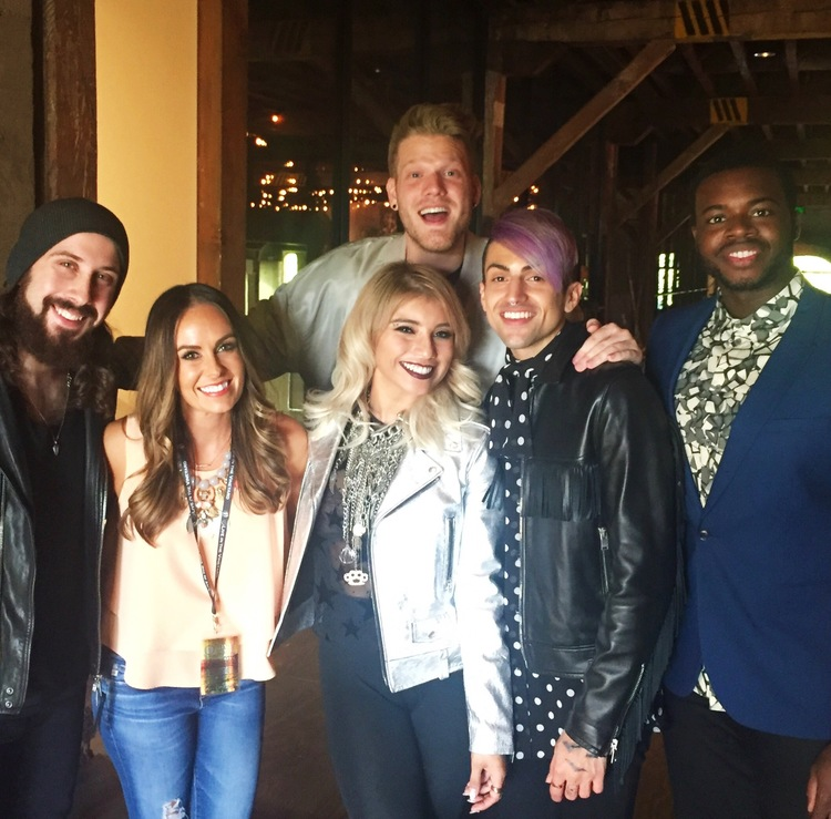 Interviewing Pentatonix at Live In The Vineyard 2015