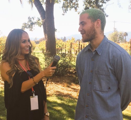 Interviewing Mike Posner at Live In The Vineyard 2016