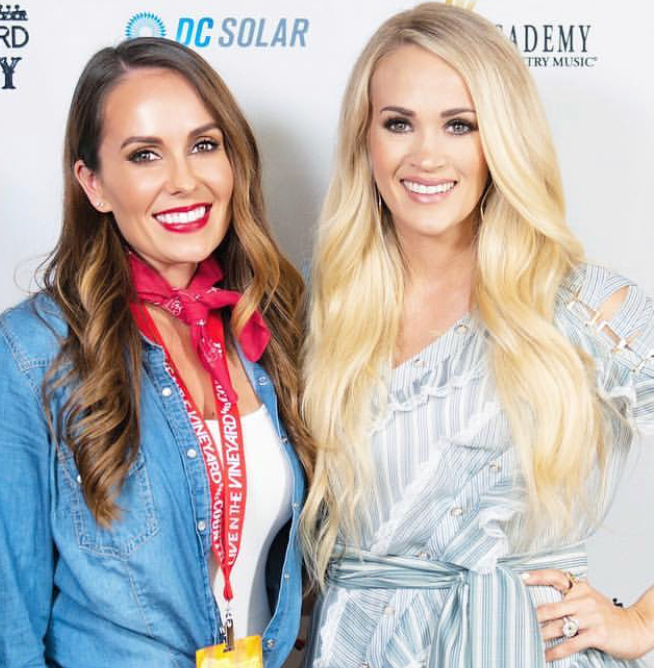 With Carrie Underwood at Live In The Vineyard Goes Country 2018
