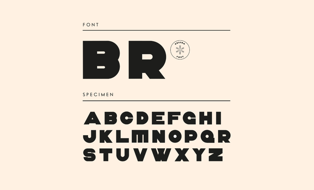 Typeface created for the project