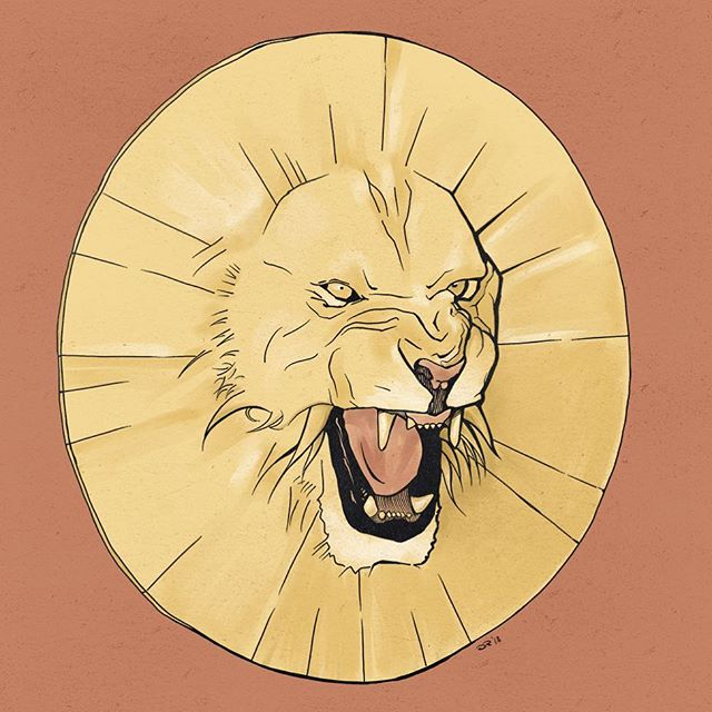 Lion disc  #procreateapp