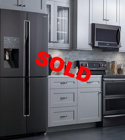 Samsung Black Stainless Steel Kitchen Set. 143045 Samsung Black Stainless