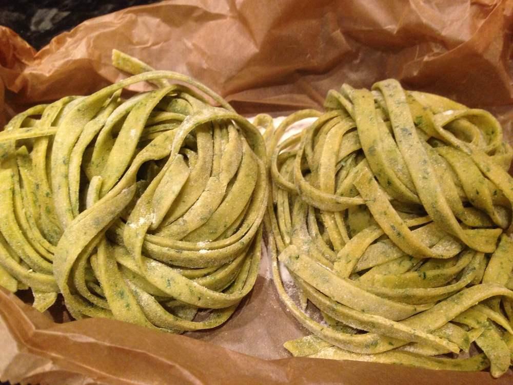 Wild garlic tagliatelle