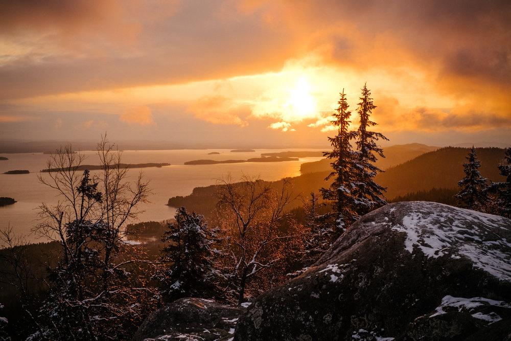 Sunrise over lake Pielinen