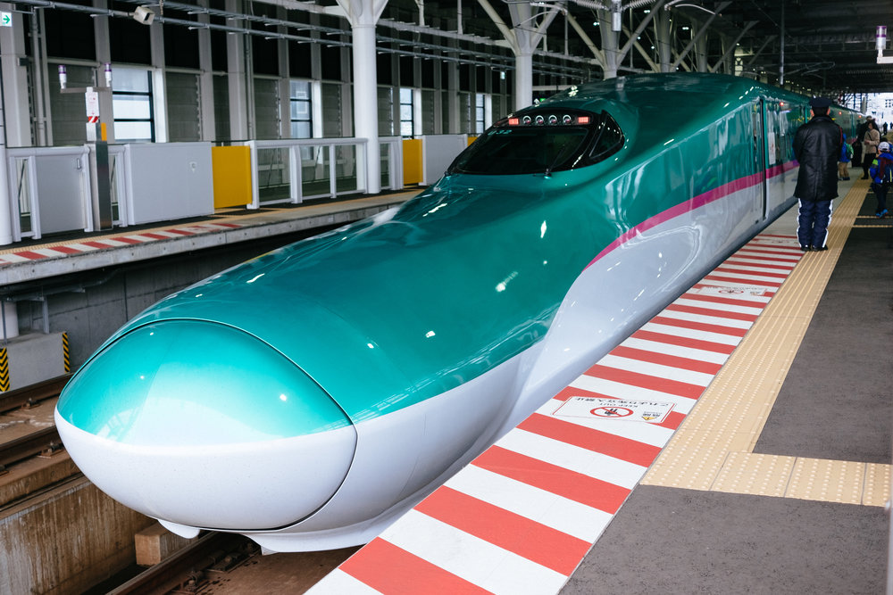 Newest shinkansen bullet train-line in Japan, Hayabusa Hokkaido Shinkansen