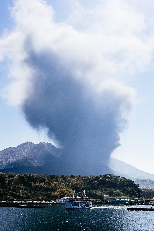 Sakurajima errupting