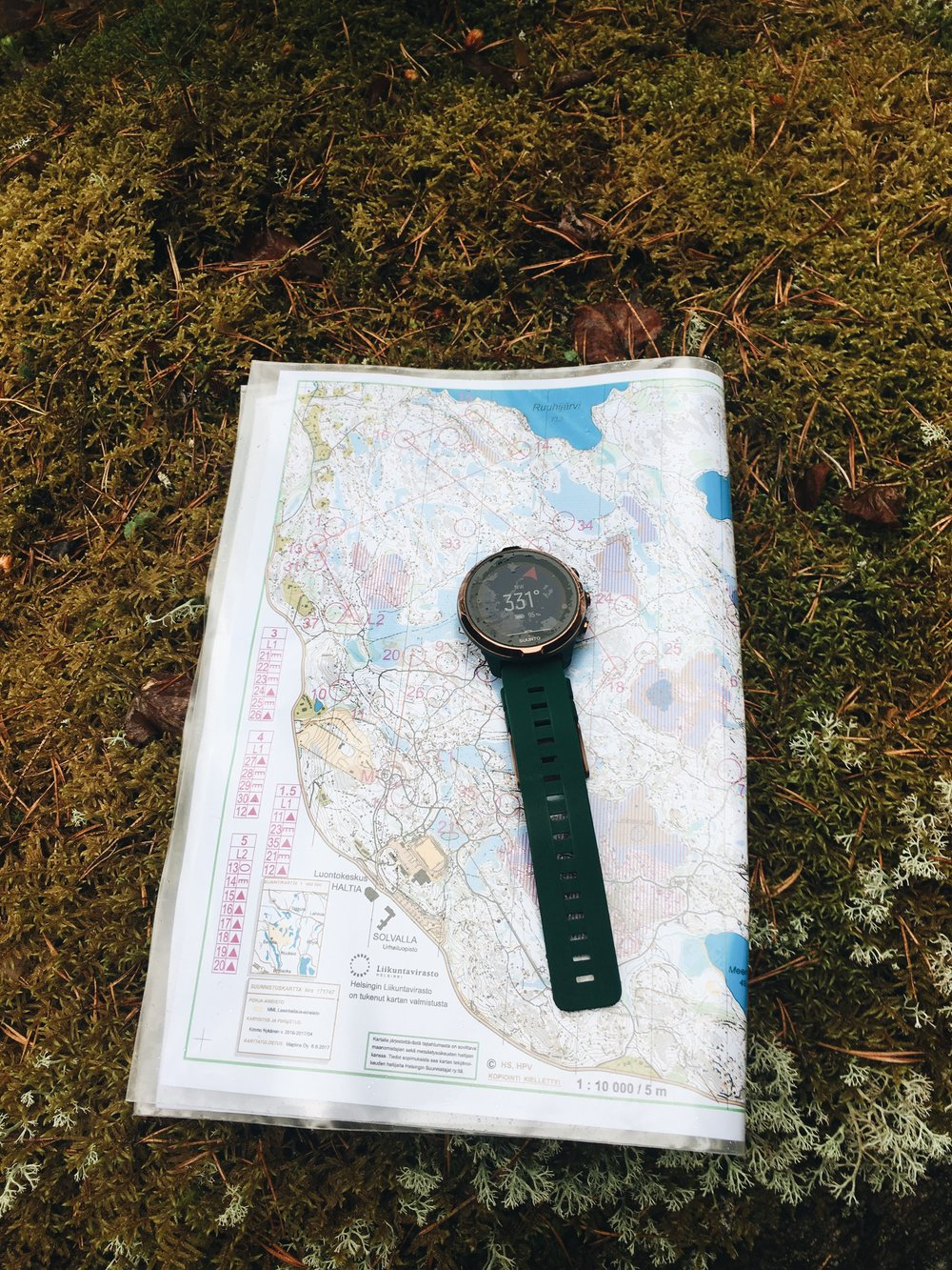 Wet Spartan with orienteering map