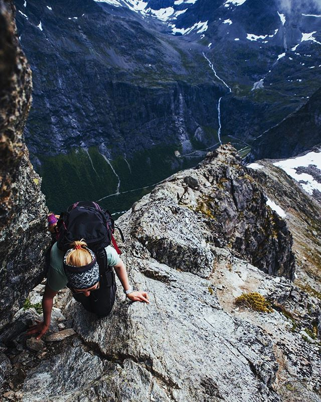 When others just snap quick photos of the Trollstigen out or the car window, the better option is to pack your stuff and head up to the serenity of the mountains. @kopisto showing real adventure spirit 💪🏻! This is blast from the past, July 2017