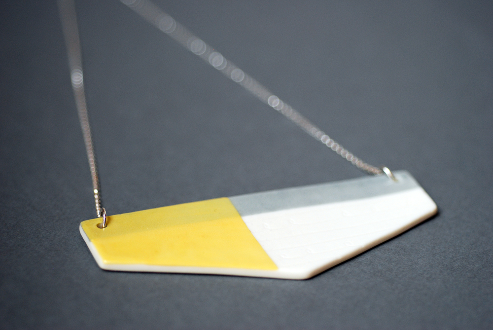 Geo Necklace Yellow