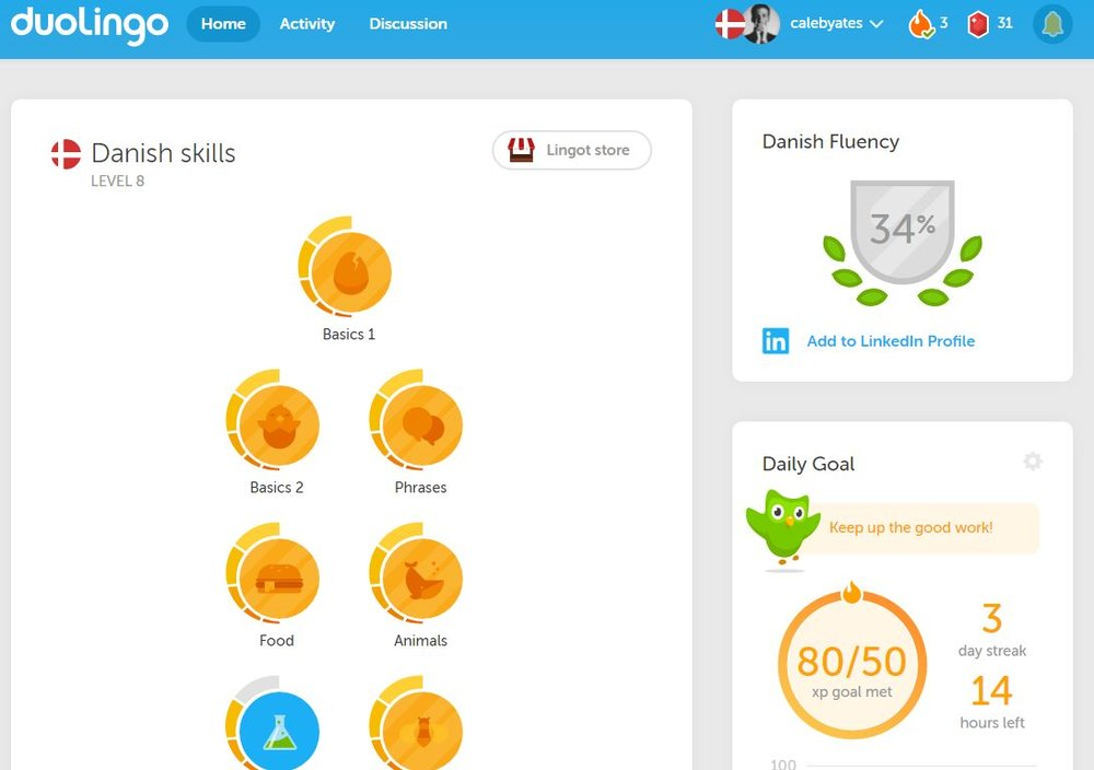 Practicing our Danish, Joel is so good at it!