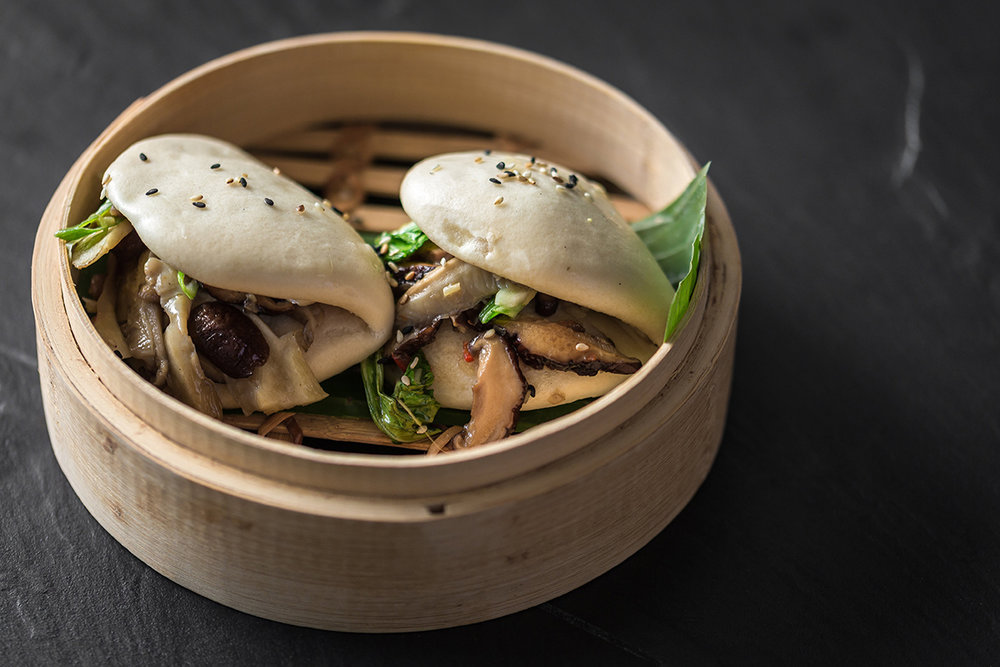 Asian Mushrooms Bao Bun