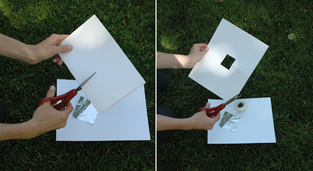 Cut a square hole -