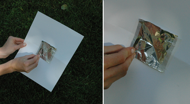 Poke a hole in the foil -