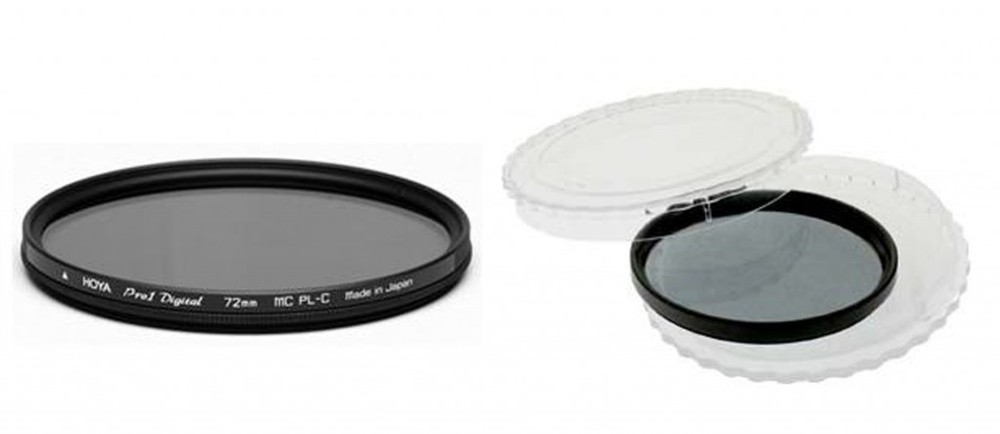 HOYA 72mm Revo SMC Circular Polariser Filter & 7DayShop 72mm Neutral Density 4 Filter