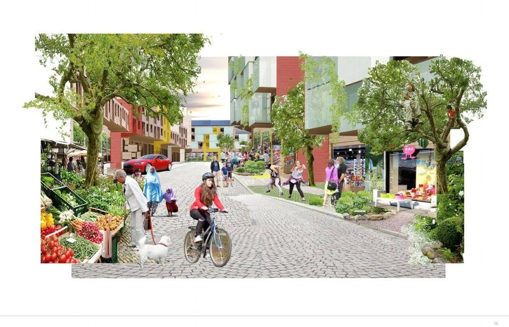 Sentrumsplan : Hurdal kommune har fått laget sentrumsplaner hos det miljøbevisste arkitektselskapet Helen & Hard. I 2018 skal planene godkjennes, og ordføreren håper at vi får se de første gravemaskinene i gaten.
