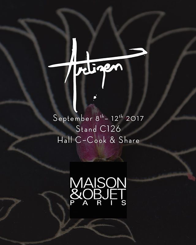 We're launching four unique handcrafted tabletop collections @maisonetobjet - Paris. September 8th-12th, 2017.  We will be at stand C 126, Hall C - Cook & Share. #StayTuned #ComingSoon