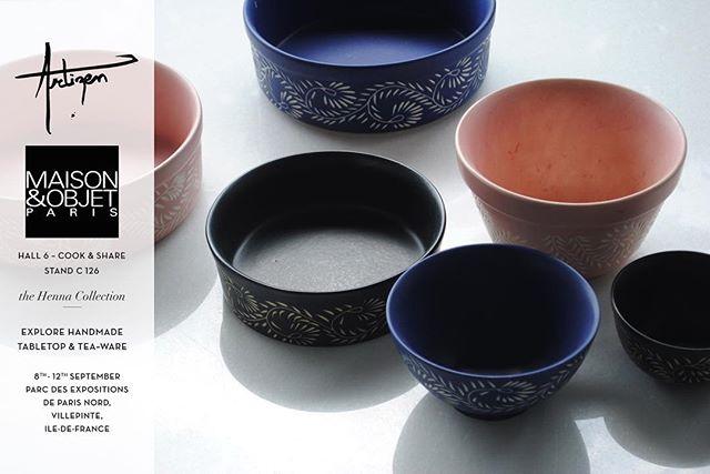 Explore our handcrafted tabletop collections at @maisonetobjet - Paris from 8th-12th September, 2017. Hall 6, Stand C 126. 🙏🏻 - #handmade #handcrafted #tabletop #tableware #madeinindia #artisanal #maisonetobjet #m&o17 #design #designdaily #instadaily #tradeonly #ceramics #ceramicartist #stoneware #artizenindia #art #blog #picottheday #paris #newyork #london #retail