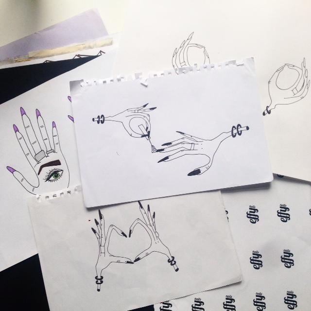 I found that I like freaky hand illustrations